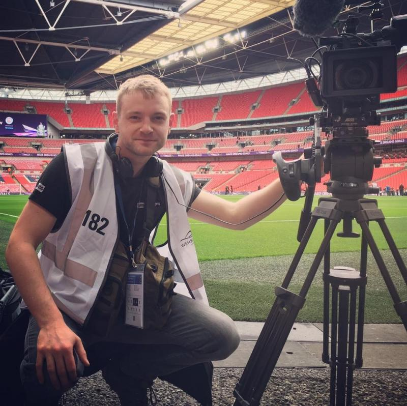 Filming the Women's FA Cup Final