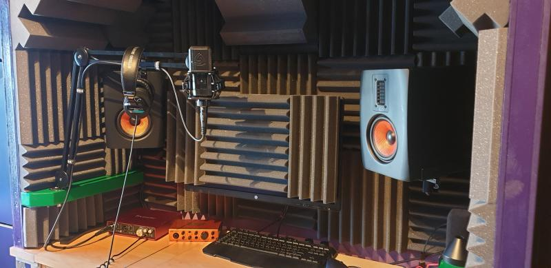 Recording booth in home studio