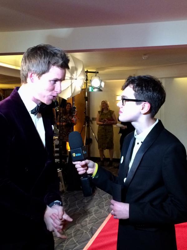 With Eddie Redmayne BAFTA Film Gala