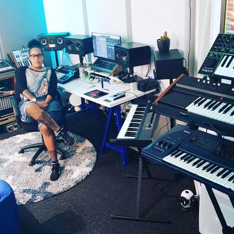 Amy in her studio