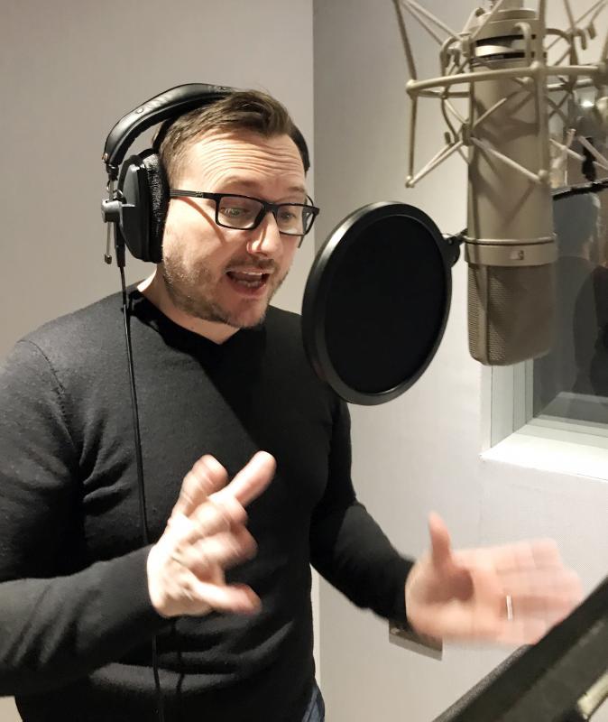 James at CODA Studios, London