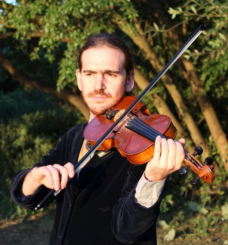 profile with violin