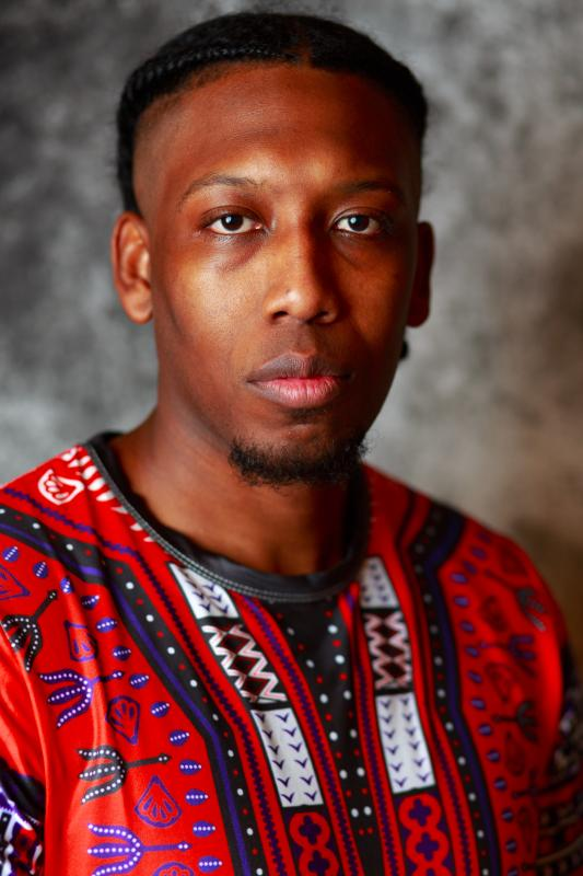 Headshot African print