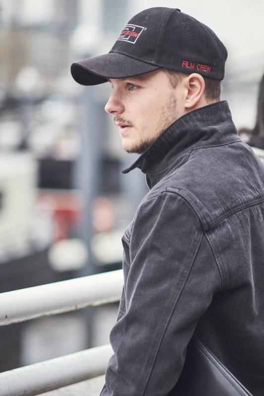 Toby Kearton on set in London - November 2018