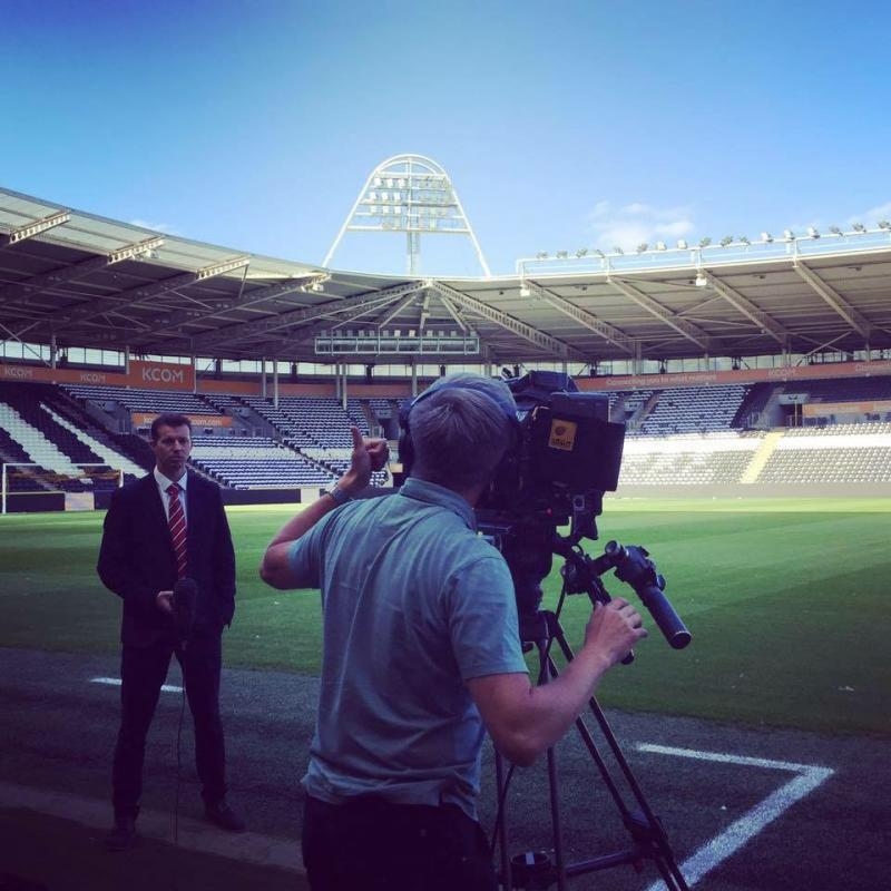 Kristian Barrass working for Sky Sports