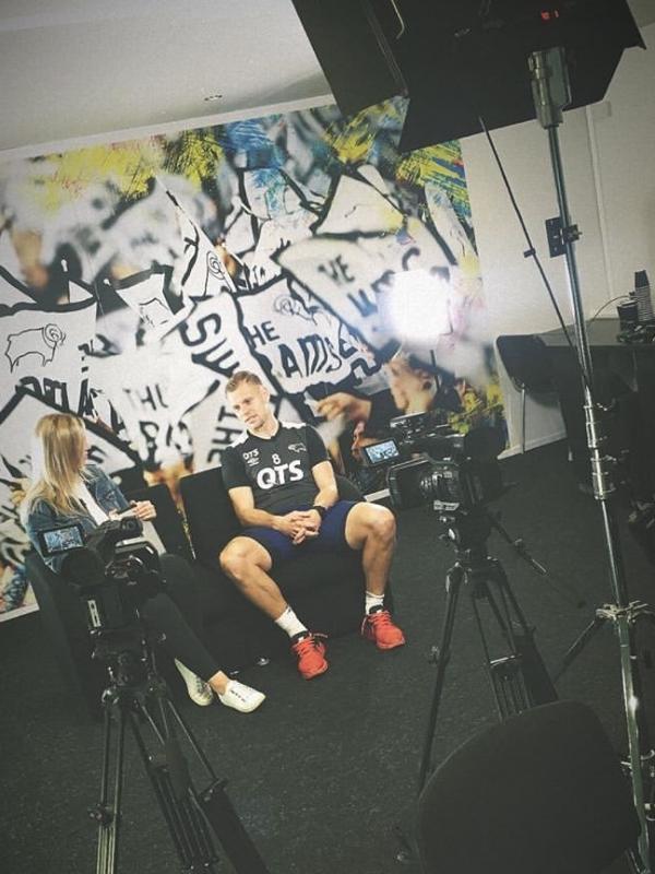 Filming presenter led piece
