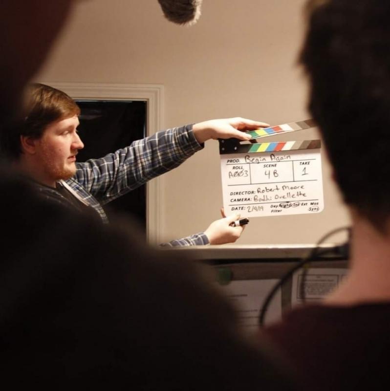 Slating on the set of Begin Again