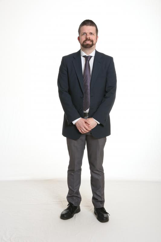 Full body shot - suit and tie