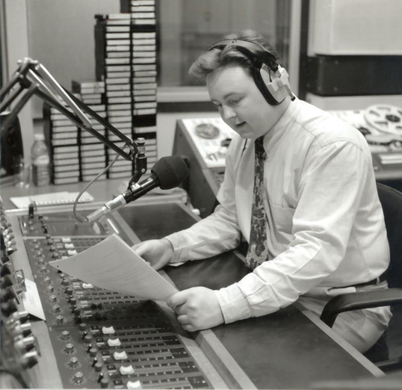 Reading the news in 1989!