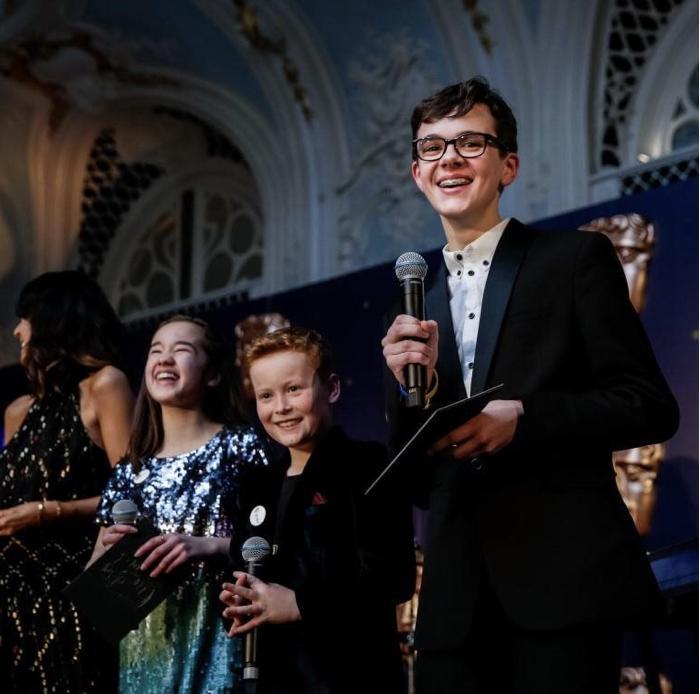 Presenting at the BAFTA Film Gala