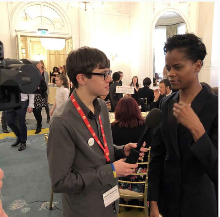 Interviewing Letitia Wright at the Place2Be awards