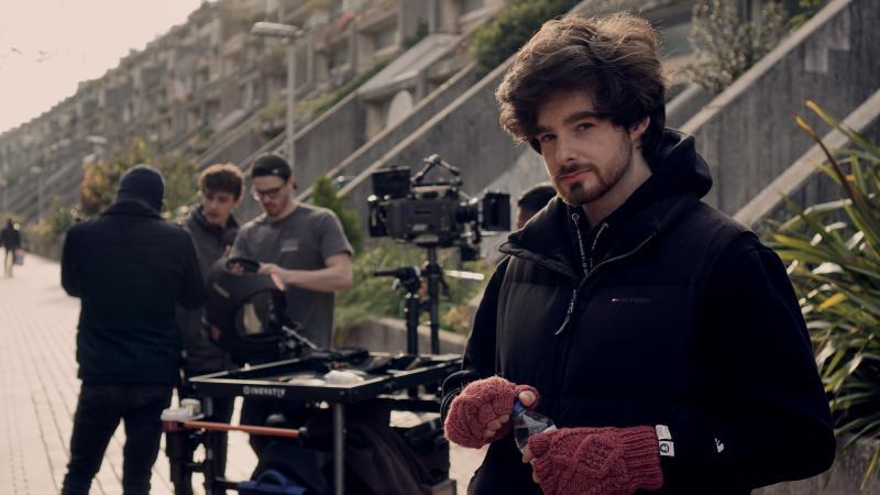 """Vincent Kavanagh - 1st AD on the set of """"Backwards"""" short film"""