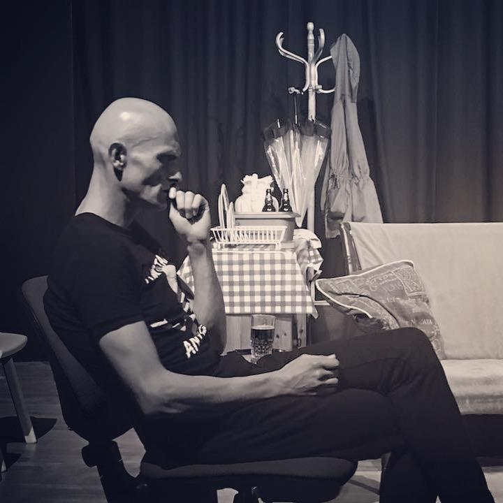 Still from stage play 'The Hill'.