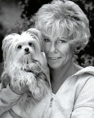 Carola with dog