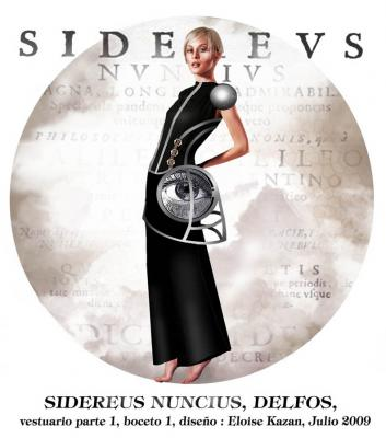 costume sketch for Sidereus Nuncius, Delfos Dance Company, music: Javier Torres Maldonado, set and costume design: Eloise Kazan