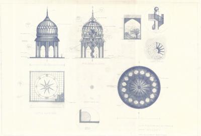 Temple Design, plans, elevations.