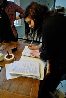 Script Supervisor on Sweet Afternoon Tea (Feb, 2011)