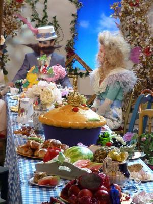 Alice in Wonderland 3D fashion shoot for ITV
