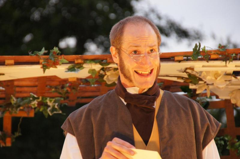 Adrian Fear as Mr Bennett in PRIDE AND PREJUDICE,
