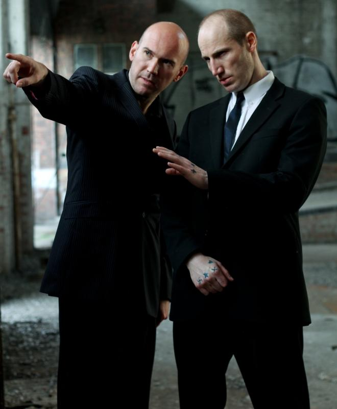Adrian Fear (right) and Alex MacQueen (left) in THE INSTRUCTIONS
