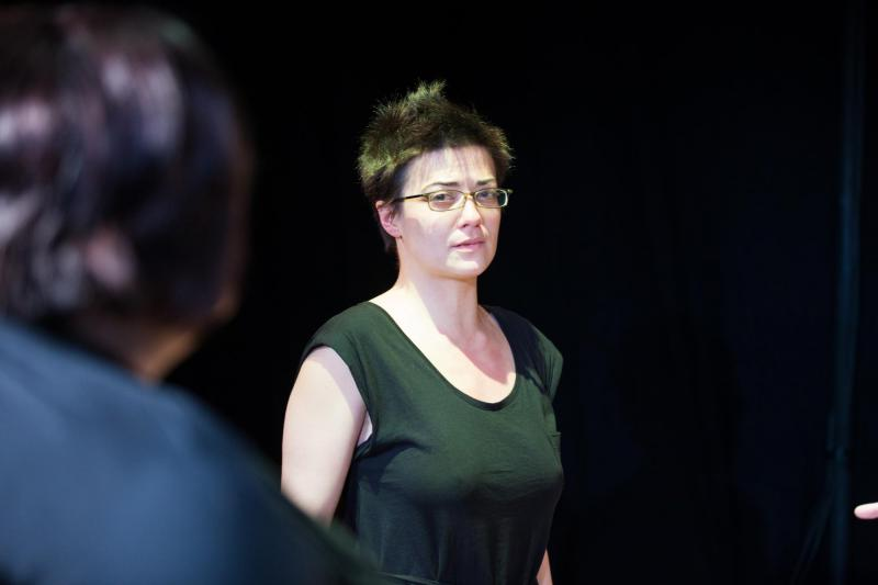 """As Jenny Young in """"Denial"""" at Kings Head Theatre"""