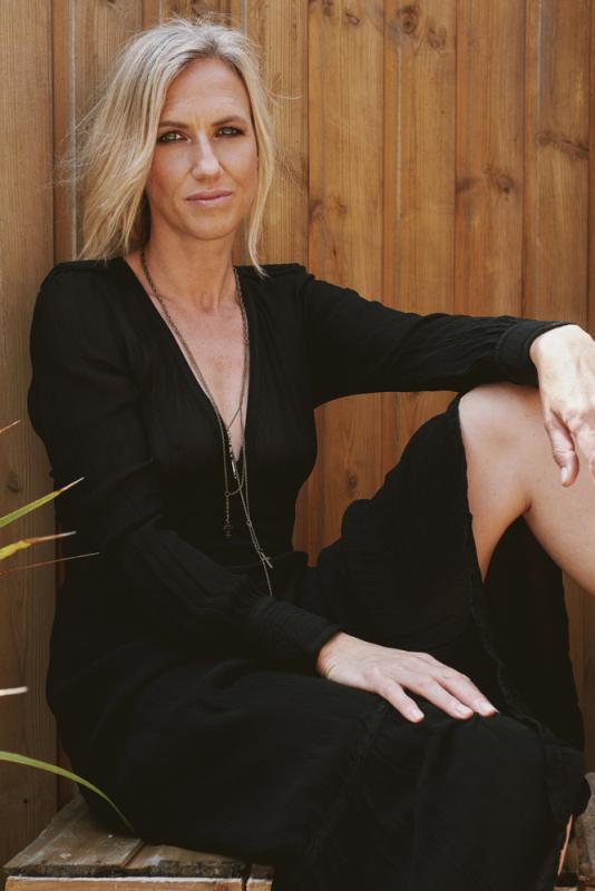 black dress portrait
