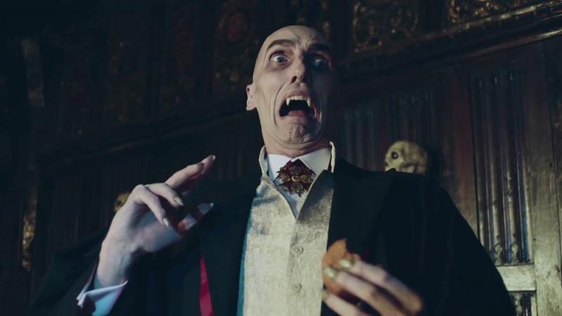 Vampire in Asda Halloween commercial