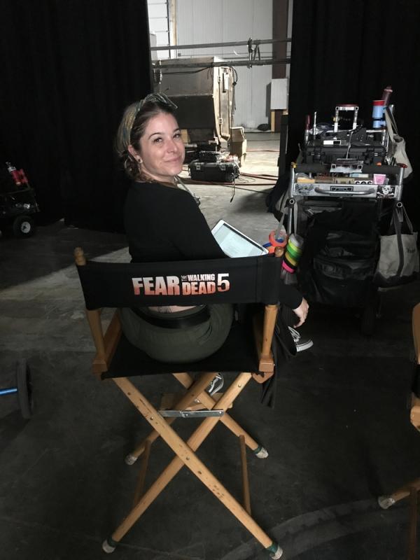 Script supervising Fear The Walking Dead, Season 5 in Austin Texas