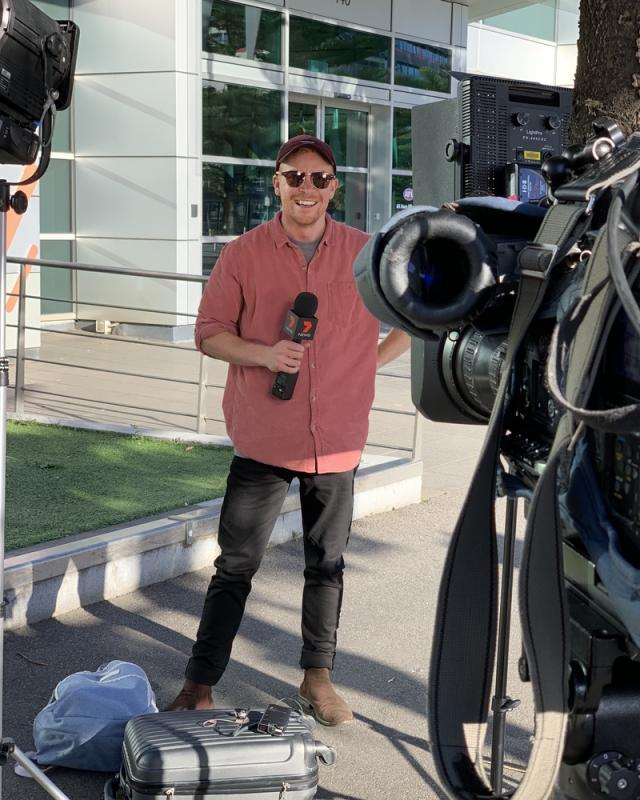 News Cross setup AFL House Melbourne