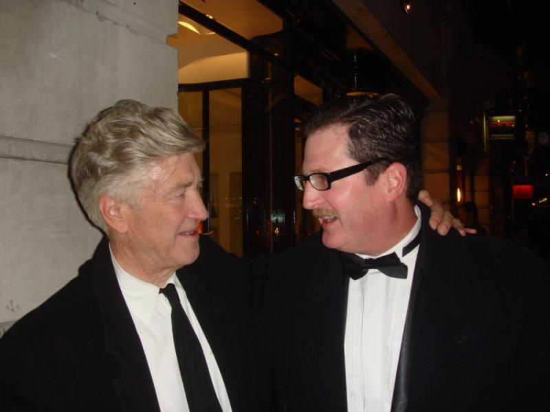 David Lynch and Producer JC Crissey at the 2007 BAFTA David Lean Lecture