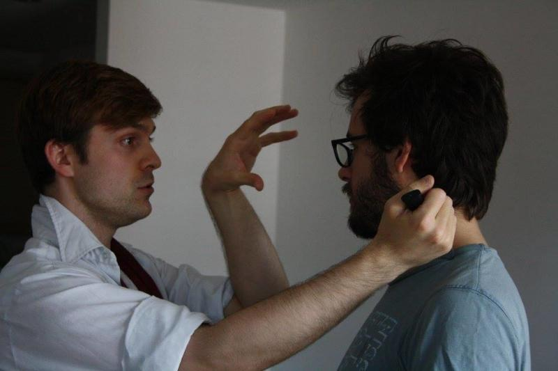 Directing a stabbing (with a trick knife)