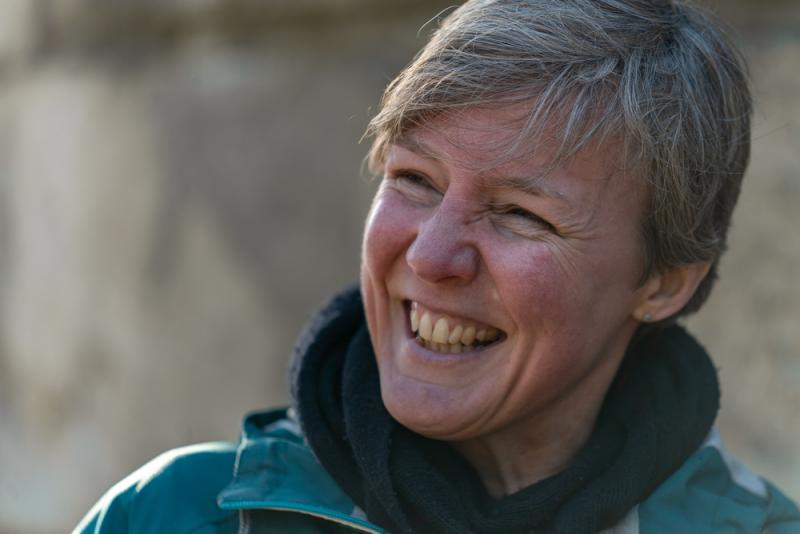 Kate Newall headshot laughing
