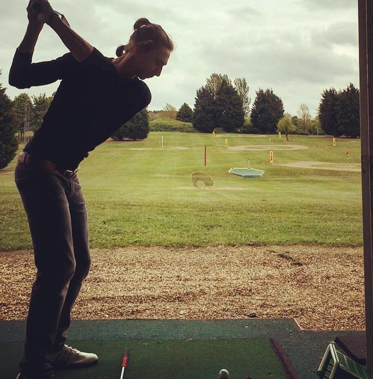 Golf swing - top of backswing