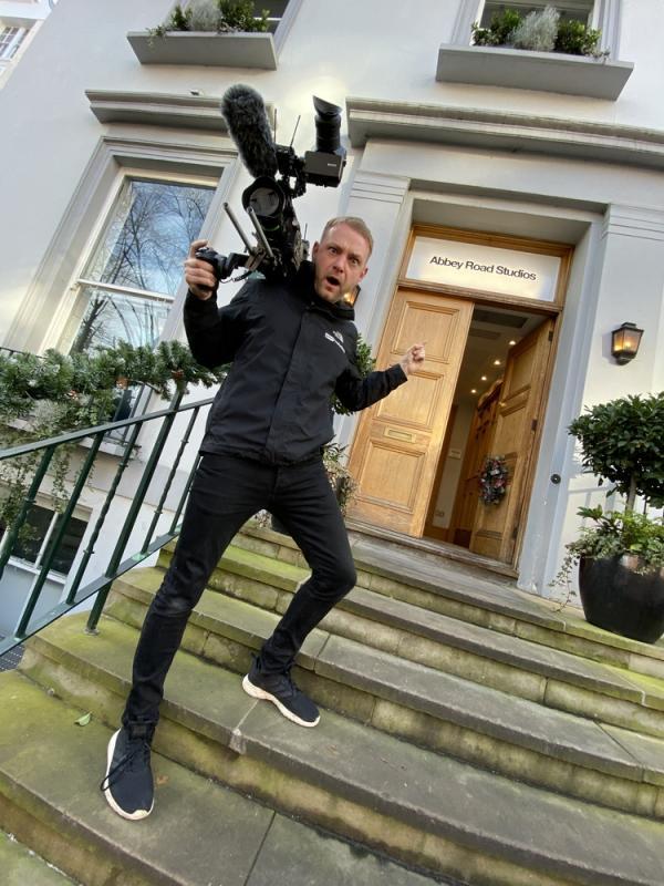 Filming Outside Abbey Road Studios