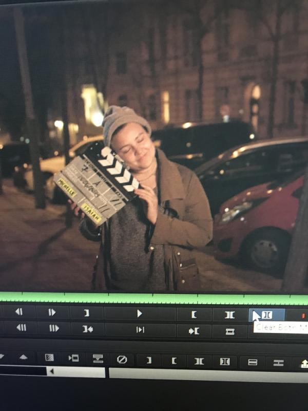 """Michelle Vega on set of """"Nora"""" 2019"""