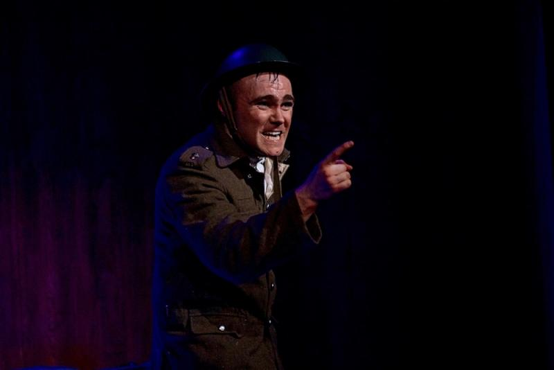 "As Private ""Tommo"" Peaceful in PRIVATE PEACEFUL, Pick Me Up Theatre"