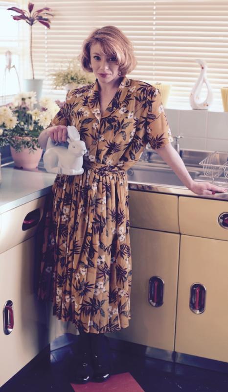 on set 'American Housewife'
