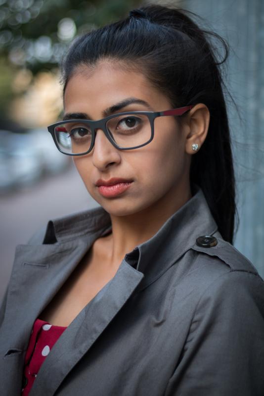 Headshot with glasses - Bhavini