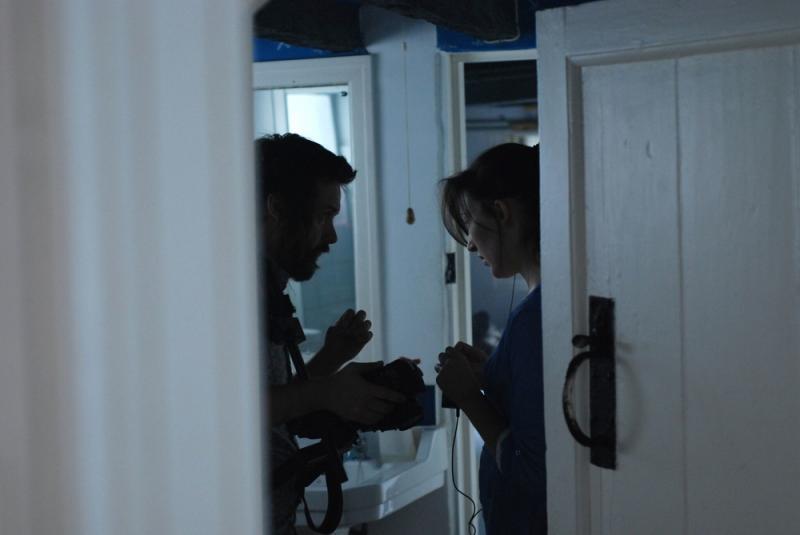 Directing on set of 'Malady'