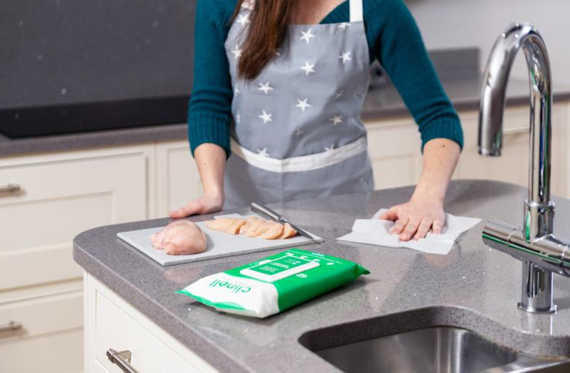Clinell Universal Antibacterial Wipes; Product Shoot