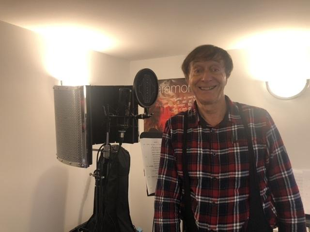 Paul Cairns recording in home studio