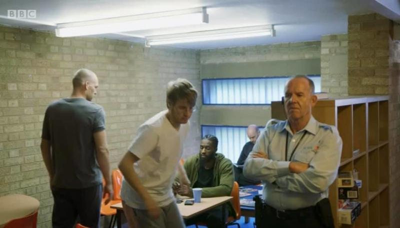 Playing the part of prison officer in BBC Doctors