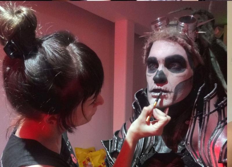 Makeup/Facepaint for music video Rock Aint Dead-Davey Suicide