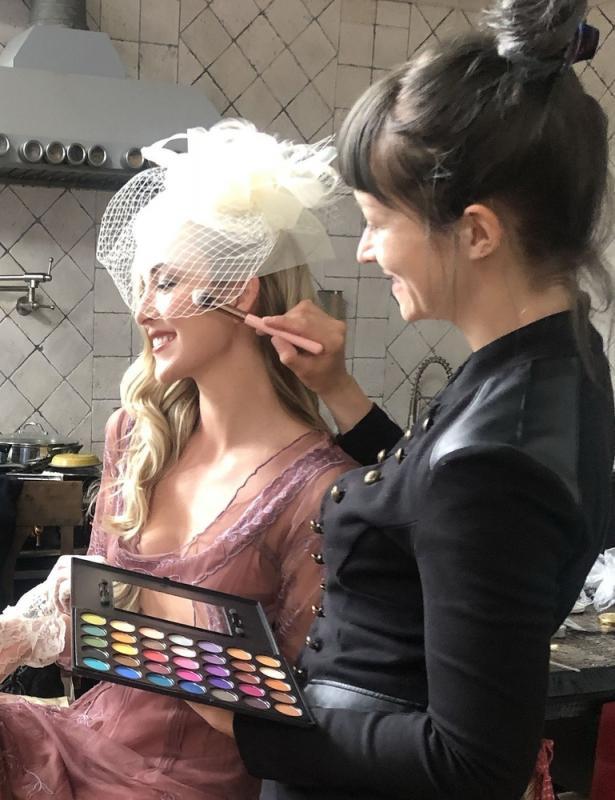 Makeup/Hair on Jessica Enders for Nataya collection shoot