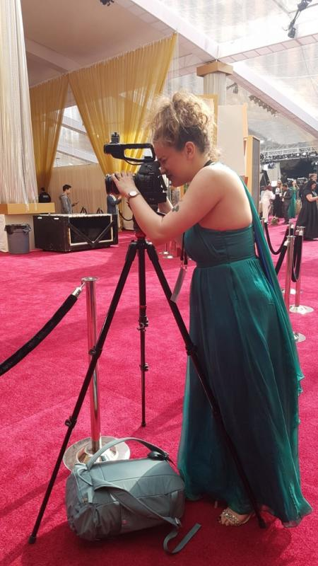 Filming on the Oscars Red Carpet