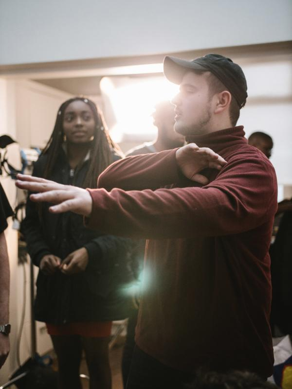 Assistant Directing on 'Singing Fish'