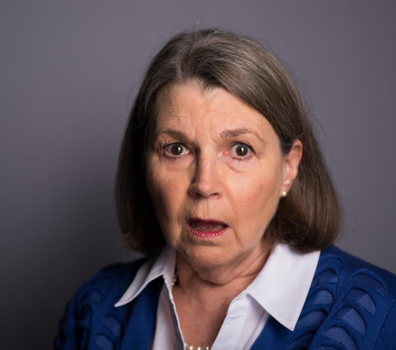 Angela White - afraid alarmed headshot
