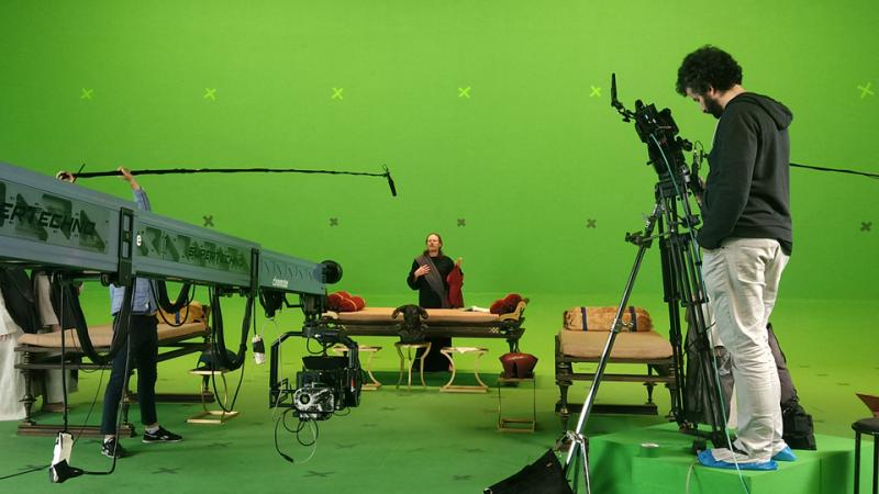 """During the shoot of the feature film """"Misanthropos"""" where I worked as DoP and AP."""
