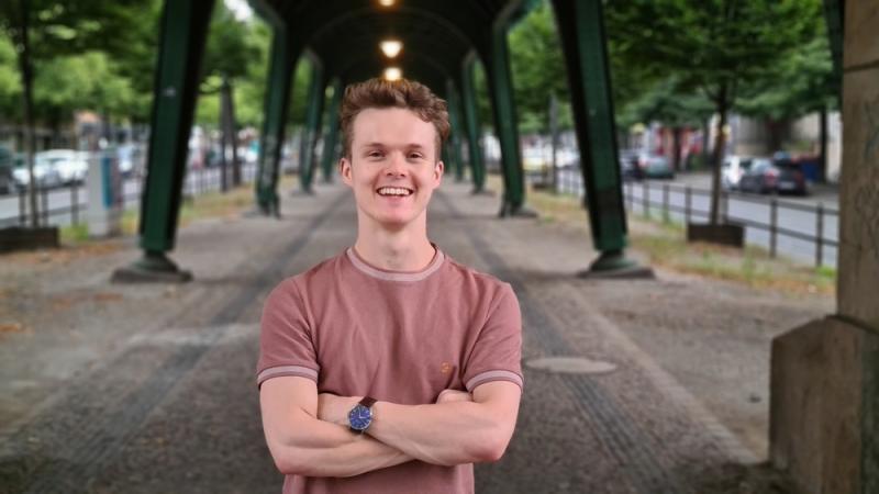 Smiling in Berlin