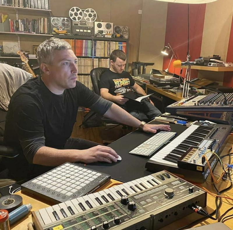 Recording Voiceovers for 'Bringing Back Golden Eye' movie at my studio Hebden Bridge Underground